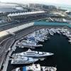 Yas Marina Yachts from the air